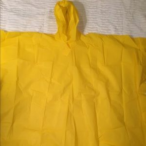Other - Yellow Rain Poncho One Size